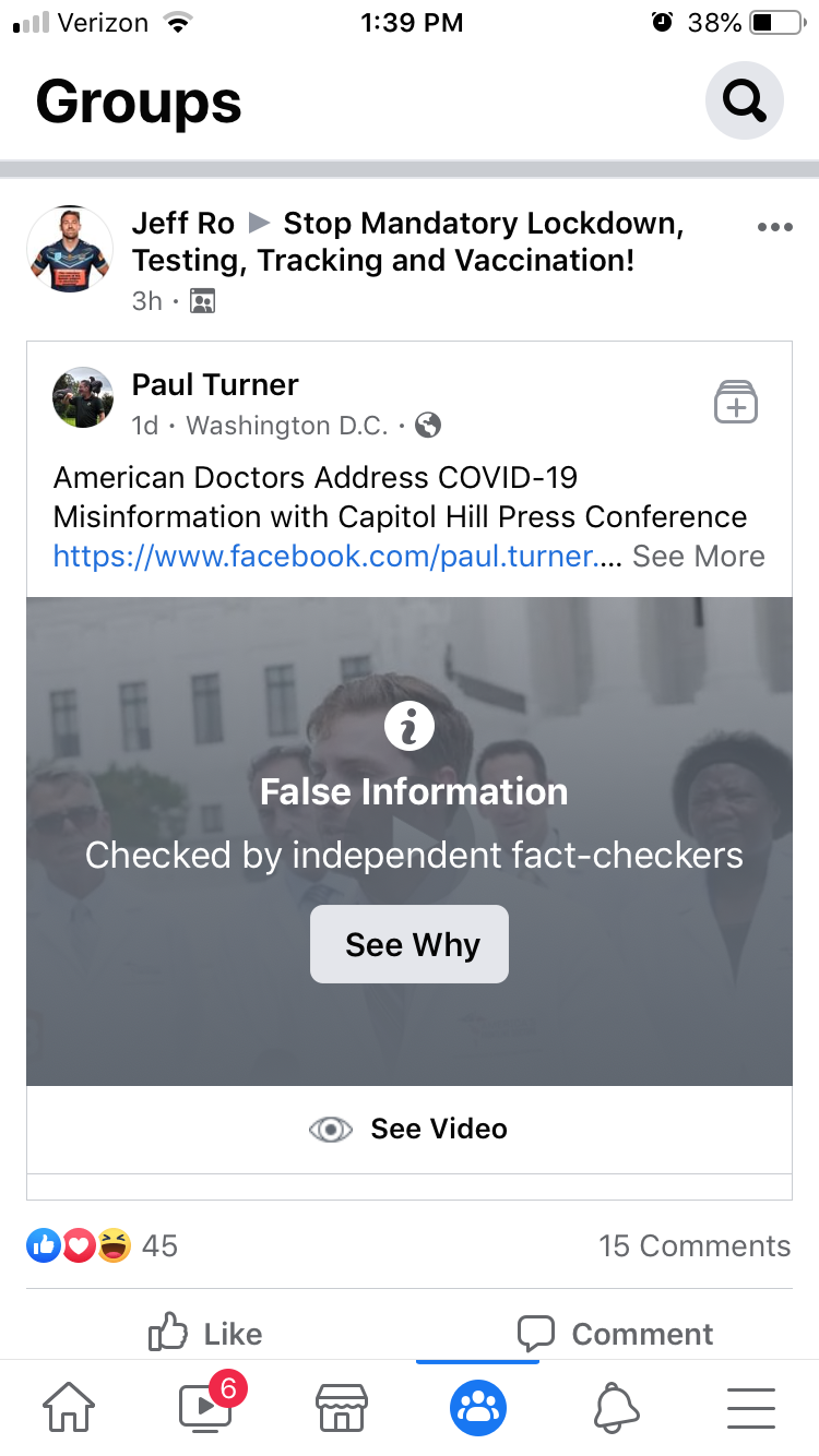 Facebook censorship: False Information, Checked by independent fact-checkers, See Why