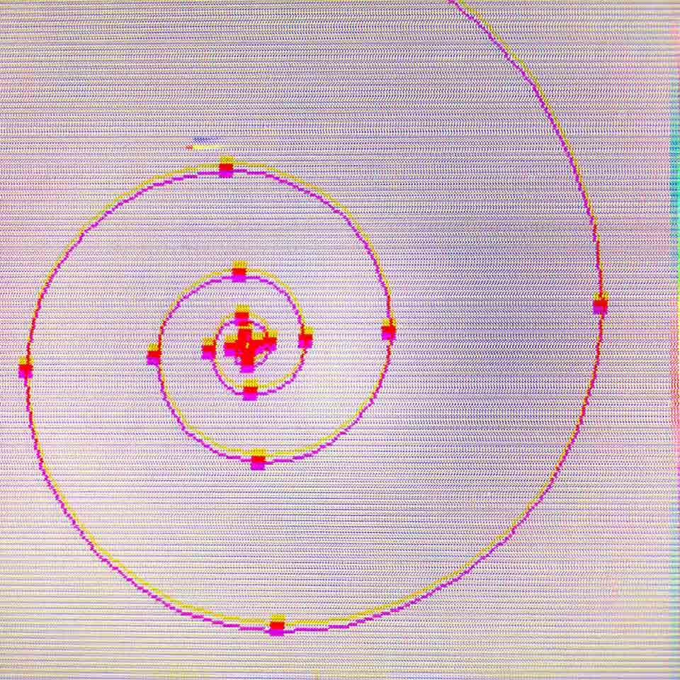 A mathematical spiral.