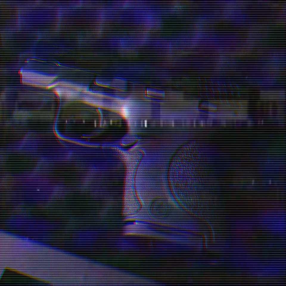 A gun in a safe.